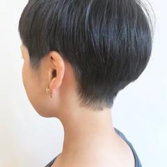 アウトドア 黒髪 刈り上げ女子 スポーツ ヘアスタイルや髪型の写真・画像