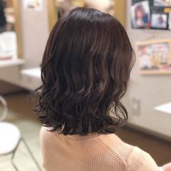 ロブ ボブ ヘアアレンジ 暗髪 ヘアスタイルや髪型の写真・画像
