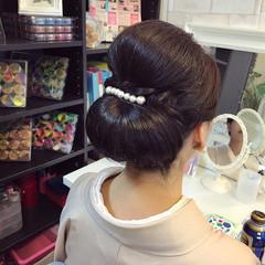 ママ 結婚式 和装 セミロング ヘアスタイルや髪型の写真・画像