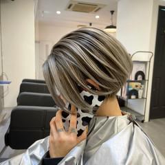 ショートボブ ショートヘア ベリーショート ストリート ヘアスタイルや髪型の写真・画像