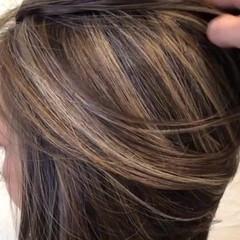 ナチュラル 3Dハイライト ボブ ハイライト ヘアスタイルや髪型の写真・画像