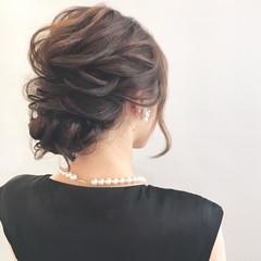 セミロング デート オフィス 結婚式 ヘアスタイルや髪型の写真・画像