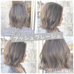 切りっぱなしボブ モテボブ アッシュグレージュ ミニボブ ヘアスタイルや髪型の写真・画像
