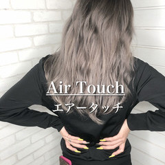 ヘアカラー 透明感カラー ナチュラル エアータッチ ヘアスタイルや髪型の写真・画像