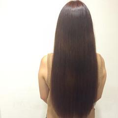 ピンク 艶髪 ガーリー ロング ヘアスタイルや髪型の写真・画像