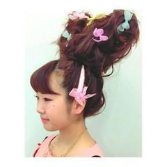 ヘアアレンジ フェミニン 簡単ヘアアレンジ 外国人風 ヘアスタイルや髪型の写真・画像