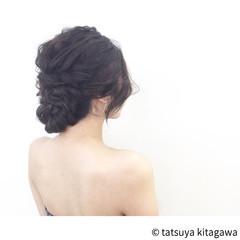 ゆるふわ 結婚式 セミロング エレガント ヘアスタイルや髪型の写真・画像