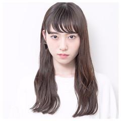 外国人風 簡単ヘアアレンジ 前髪あり アッシュ ヘアスタイルや髪型の写真・画像