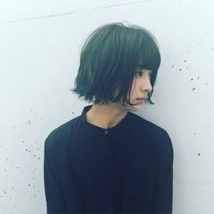 ナチュラル ボブ アンニュイ フェミニン ヘアスタイルや髪型の写真・画像