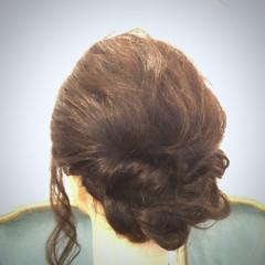 簡単ヘアアレンジ ショート 春 セミロング ヘアスタイルや髪型の写真・画像