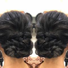 ゆるふわセット エレガント 大人可愛い セミロング ヘアスタイルや髪型の写真・画像