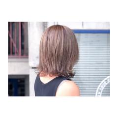 ナチュラル 透明感 グレージュ ボブ ヘアスタイルや髪型の写真・画像