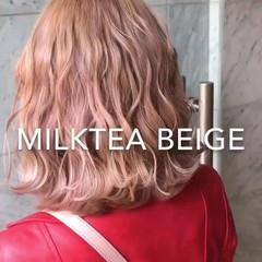 外国人風カラー ホワイトカラー ガーリー ハイトーンカラー ヘアスタイルや髪型の写真・画像