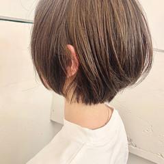ベージュ ショートボブ ショート ショートヘア ヘアスタイルや髪型の写真・画像