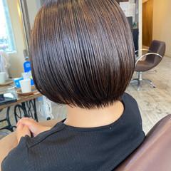 前下がりボブ ショートボブ 髪質改善トリートメント 髪質改善 ヘアスタイルや髪型の写真・画像