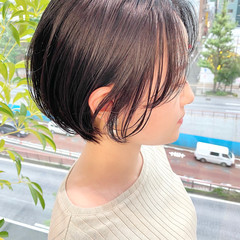 ナチュラル ベリーショート ショート デート ヘアスタイルや髪型の写真・画像