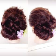 夏 まとめ髪 ヘアアレンジ お祭り ヘアスタイルや髪型の写真・画像