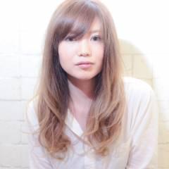 グラデーションカラー コンサバ モテ髪 ロング ヘアスタイルや髪型の写真・画像