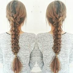 簡単ヘアアレンジ 大人かわいい フェミニン ロング ヘアスタイルや髪型の写真・画像