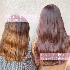 ハイライト ナチュラル インナーカラー 韓国ヘア ヘアスタイルや髪型の写真・画像