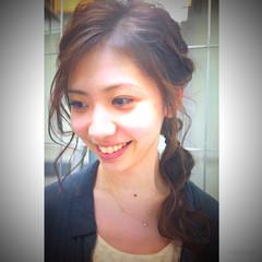 ゆるふわ ヘアアレンジ セミロング ヘアスタイルや髪型の写真・画像