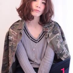 かっこいい 甘め 甘辛MIX ミディアム ヘアスタイルや髪型の写真・画像