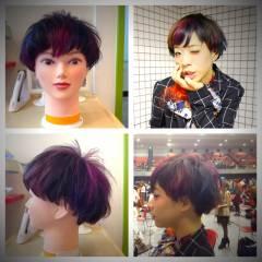 ストリート ショート ブラウンベージュ 木村カエラ ヘアスタイルや髪型の写真・画像
