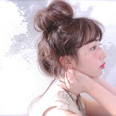 ショート ロング ヘアアレンジ 簡単ヘアアレンジ ヘアスタイルや髪型の写真・画像