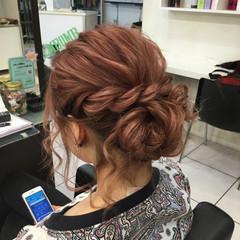 セミロング 簡単ヘアアレンジ フェミニン ショート ヘアスタイルや髪型の写真・画像