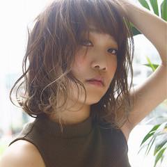 ミディアム アッシュ グラデーションカラー ハイライト ヘアスタイルや髪型の写真・画像