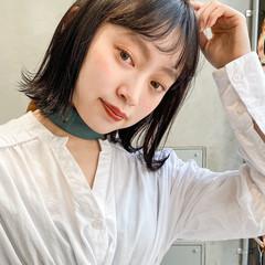 ナチュラル 透明感カラー 大人可愛い ミディアム ヘアスタイルや髪型の写真・画像