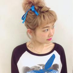 ガーリー ヘアアレンジ ショート ボブ ヘアスタイルや髪型の写真・画像