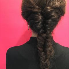 フィッシュボーン ロング ストリート ウェーブ ヘアスタイルや髪型の写真・画像