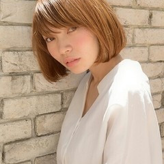 似合わせ 外国人風 前髪あり 小顔 ヘアスタイルや髪型の写真・画像