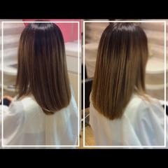 ハイトーンカラー 髪質改善 バレイヤージュ 髪質改善カラー ヘアスタイルや髪型の写真・画像