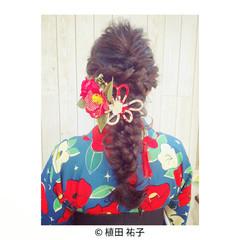 ロング ヘアアレンジ 着物 ハーフアップ ヘアスタイルや髪型の写真・画像