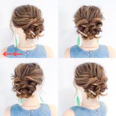 ヘアアレンジ 雨の日 女子会 簡単ヘアアレンジ ヘアスタイルや髪型の写真・画像