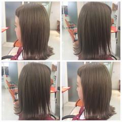 ボブ ストリート グレージュ ミディアム ヘアスタイルや髪型の写真・画像