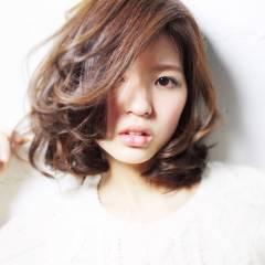 ミディアム コンサバ モテ髪 モード ヘアスタイルや髪型の写真・画像