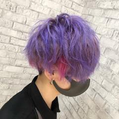 インナーカラー 派手髪 メンズマッシュ ストリート ヘアスタイルや髪型の写真・画像
