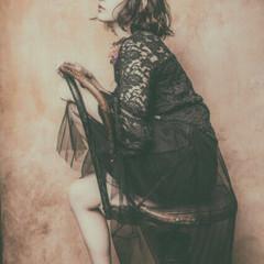 ガーリー ゆるふわ ミディアム ワイドバング ヘアスタイルや髪型の写真・画像
