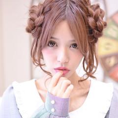デート ヘアアレンジ ガーリー 簡単ヘアアレンジ ヘアスタイルや髪型の写真・画像