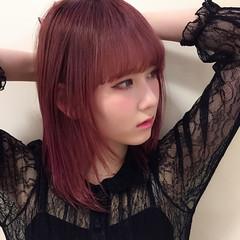 ストレート モード 大人女子 ピンク ヘアスタイルや髪型の写真・画像