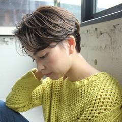 ナチュラル デジタルパーマ 前髪なし 前髪あり ヘアスタイルや髪型の写真・画像