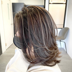 ミディアム レイヤーカット 外国人風カラー ストリート ヘアスタイルや髪型の写真・画像