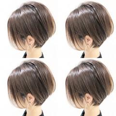 ショートボブ ショート ハンサムショート インナーカラー ヘアスタイルや髪型の写真・画像