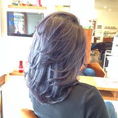セミロング 成人式 ストリート 外国人風カラー ヘアスタイルや髪型の写真・画像