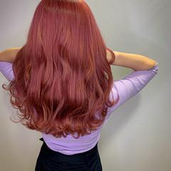 ラベンダーピンク ピンクアッシュ ピンクベージュ ピンク ヘアスタイルや髪型の写真・画像