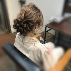 ヘアセット ヘアアレンジ ロング アップ ヘアスタイルや髪型の写真・画像