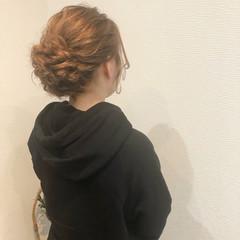 アップスタイル ヘアセット ブライダル ミディアム ヘアスタイルや髪型の写真・画像